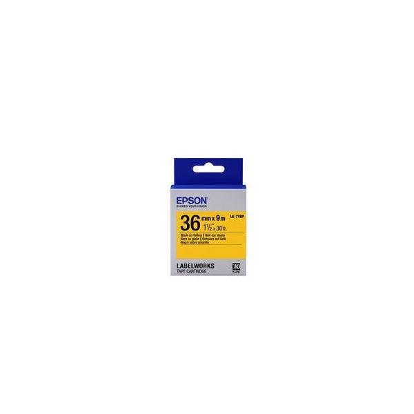 Epson LK-7YBP Black On Yellow C53S657005
