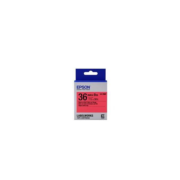 Epson LK-7RBP Black on Red C53S657004