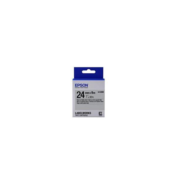 Epson LK-6SBE Black on Matte Silver C53S656009