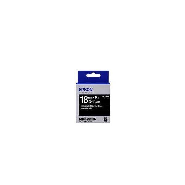 Epson LK-5BWV White on Black C53S655014
