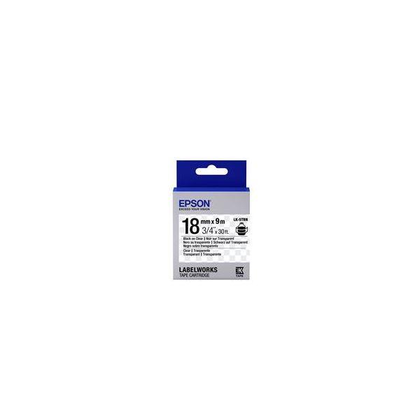Epson LK-5TBN Black on Clear C53S655008