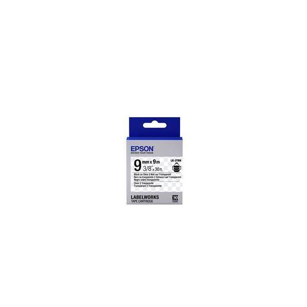 Epson LK-3TBN Black on Clear C53S653004