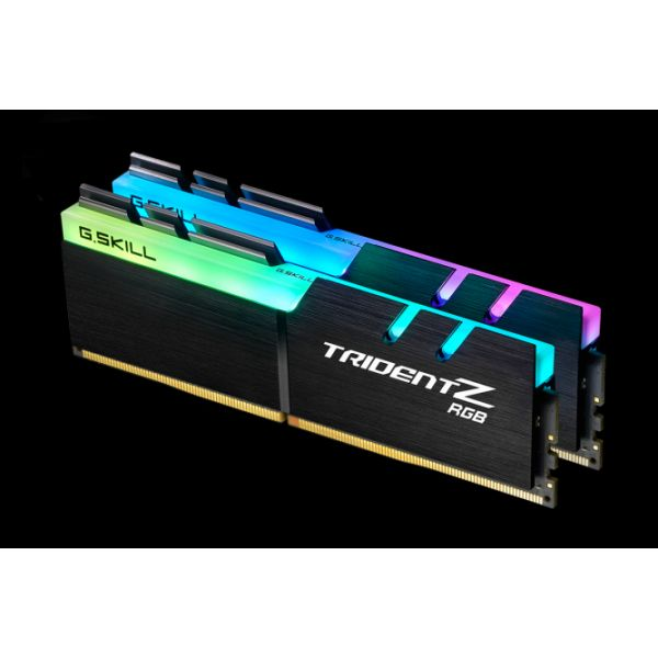 Memória RAM G.Skill 16GB Trident Z RGB (2x 8GB) DDR4 3200MHz PC4-25600 CL14 Black - F4-3200C14D-16GTZR