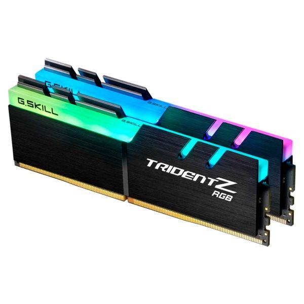 Memória RAM G.Skill 16GB Trident Z RGB (2x 8GB) DDR4 3000MHz PC4-24000 CL15 Black - F4-3000C15D-16GTZR