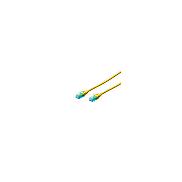 Digitus Chicote UTP CAT5E Amarelo 1mt - DK-1512-010/Y