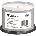 Verbatim Cd-r 80 / 700mb 52x White Wide Printable Cake 50 - 43745
