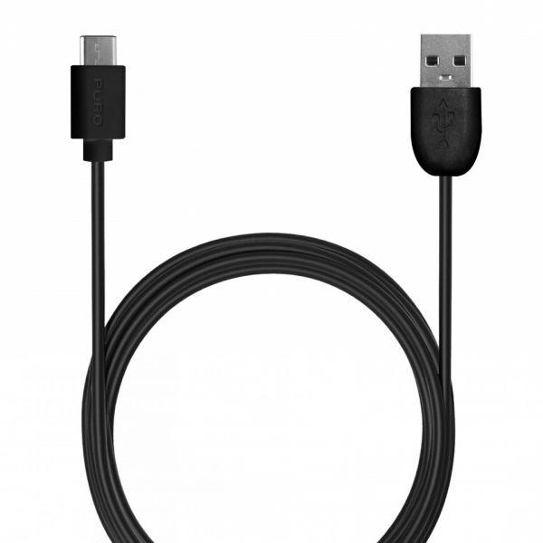 Puro Cabo USB 2.0 2A 1m Black - CUSBC31BLK