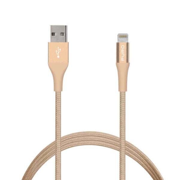 Puro Cabo USB 2.4A 1m Gold - CAPLTFABRIC2GOLD