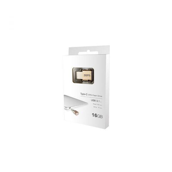 ADATA 16GB UC350 USB 3.0 (3.1 Gen 1) Type-A/Type-C Gold