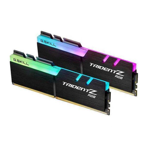 Memória RAM G.Skill 16GB Trident Z RGB (2x 8GB) DDR4 4133MHz PC4-33000 CL19 - F4-4133C19D-16GTZR