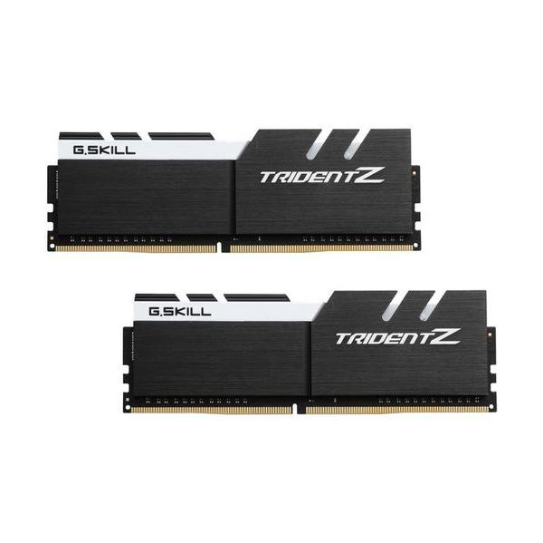 Memória RAM G.Skill 16GB Trident Z RGB (2x 8GB) DDR4 4133MHz PC4-33000 CL19 Black/White - F4-4133C19D-16GTZKW