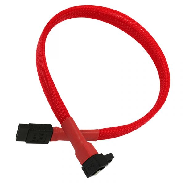 Nanoxia Cable SATA3 6Gb/s 30cm em camadas Red