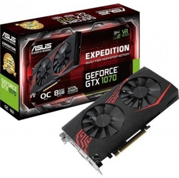 Asus GeForce GTX1070 Expedition OC 8GB GDDR5 - 90YV09T6-M0NA00