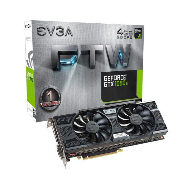 EVGA GeForce GTX1050 Ti FTW Gaming ACX 3.0 4GB GDDR5 - 04G-P4-6258-KR