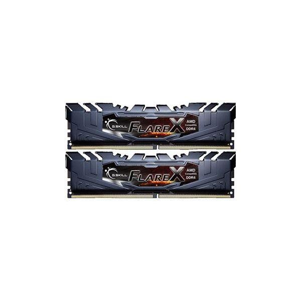 Memória RAM G.Skill 32GB FlareX (2x 16GB) DDR4 2400MHz PC4-19200 CL15 Black - F4-2400C15D-32GFX