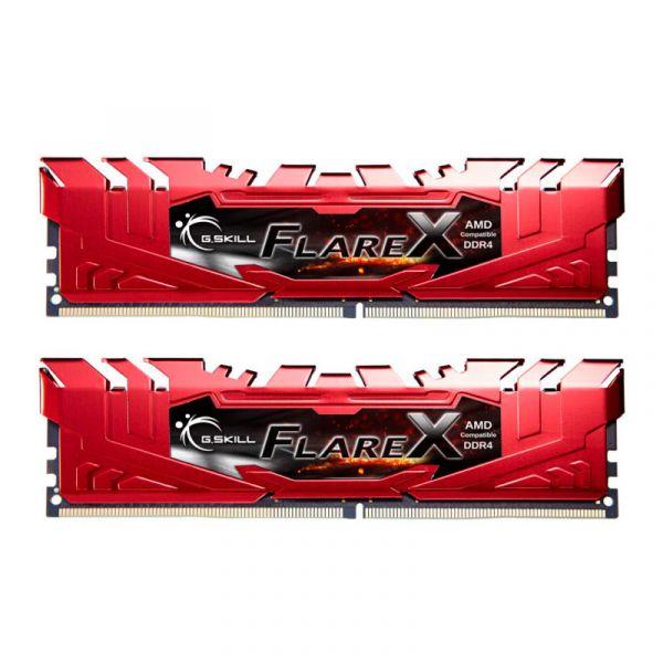 Memória RAM G.Skill 16GB FlareX (2x 8GB) DDR4 2400MHz PC4-19200 CL16 Red - F4-2400C16D-16GFXR