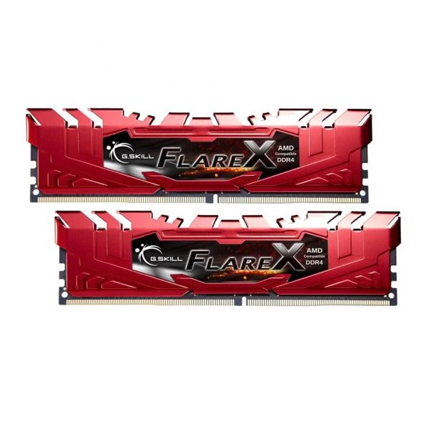 Memória RAM G.Skill 32GB FlareX (2x 16GB) DDR4 2133MHz PC4-17000 CL15 Red - F4-2133C15D-32GFXR