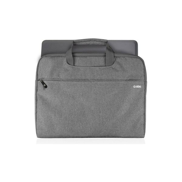 "SBS Bag with handles for Notebook up to 15"" Grey - NBSLIMBAG15G"