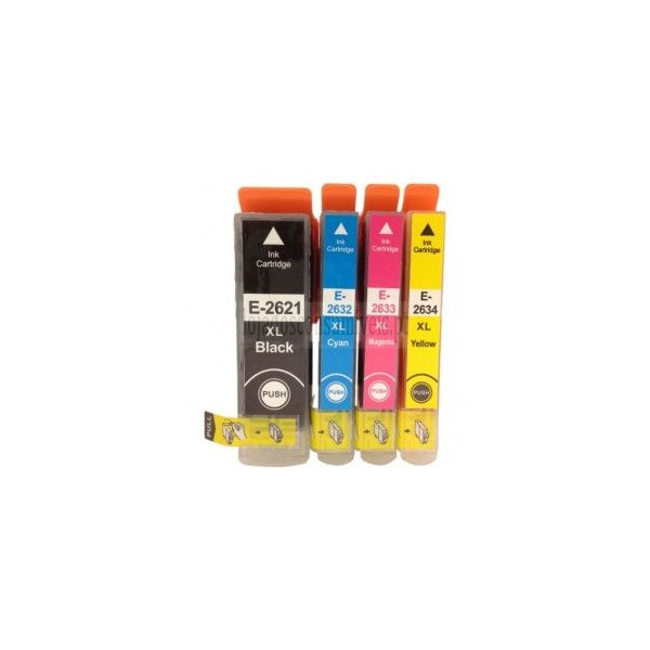 Pack 4 Tinteiros Epson 26 XL T2621/T2632/3/4 (T2616) Compatíveis