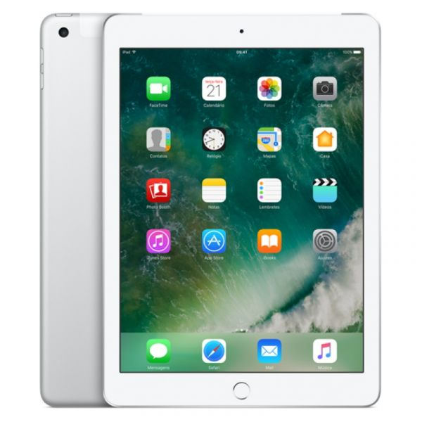 "Tablet Apple iPad 9.7"" 32GB Wi-Fi + Cellular Silver - MP1L2TY/A"