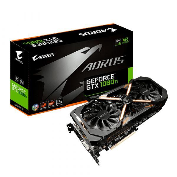 Placa Gráfica Gigabyte GeForce GTX1080 TI Aorus 11GB GDDR5 (PCI-E) - GV-N108TAORUS-11GD