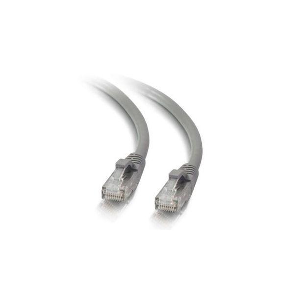 C2G Cat5e Booted Unshielded (UTP) Network Patch Cable 30 cm - PTNB - CAT 5e - moldado, snagless, entrançado - Grey