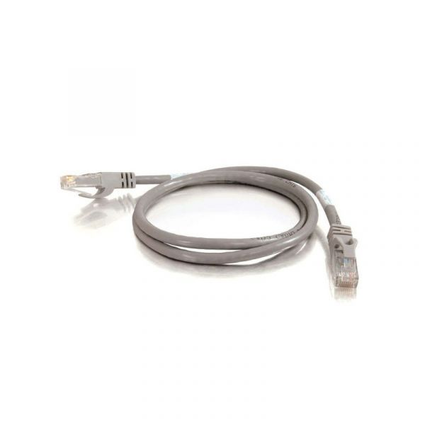 C2G Cat6a Booted Shielded (SSTP) Network Patch Cable 1 m - par trançado blindado revestido (PTBO) - CAT 6a - molded, snagless, stranded - Grey