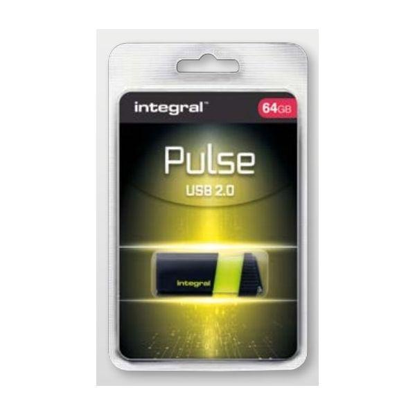 Integral 64GB Pulse Yellow USB 3.0