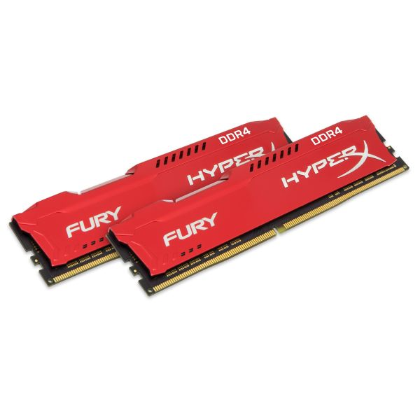 Memória RAM Kingston 16GB HyperX Fury (2x 8GB) DDR4 2400MHz CL15 Red - HX424C15FR2K2/16