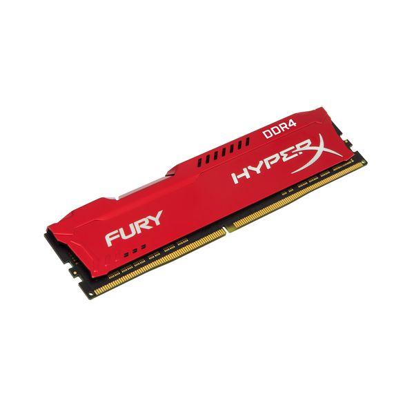 Memória RAM Kingston 8GB HyperX Fury DDR4-2400MHz CL15 Red - HX424C15FR2/8