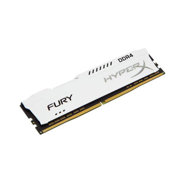 Memória RAM Kingston 16GB HyperX Fury DDR4 2400MHz CL15 White - HX424C15FW/16