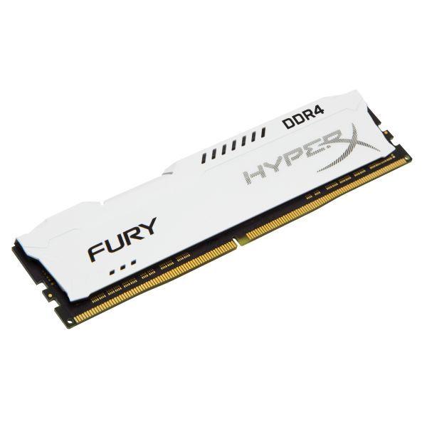 Memória RAM Kingston 8GB HyperX Fury DDR4 2400MHz CL15 White - HX424C15FW2/8