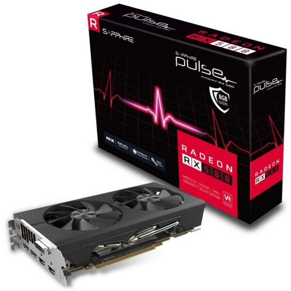 Placa Gráfica Sapphire Radeon RX580 Pulse 8GB GDDR5 (PCI-E) 11265-05-20G