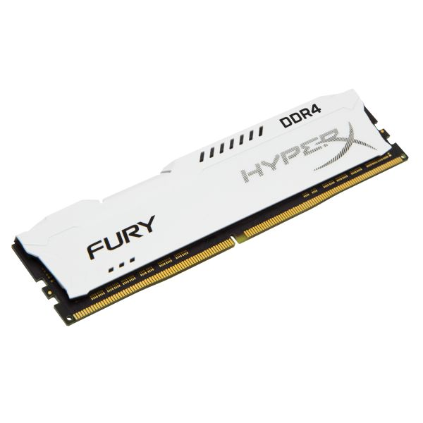 Memória RAM Kingston 8GB HyperX Fury DDR4 2666MHz CL16 White - HX426C16FW2/8