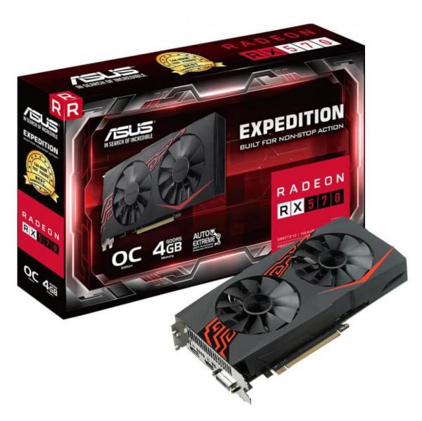 Asus Radeon RX570 Expedition OC edition 4GB GDDR5 - EX-RX570-O4G