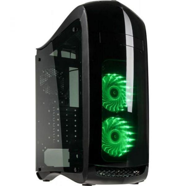 Kolink Caixa ATX Punisher LED RGB Window Black - PUNISHER-RGB