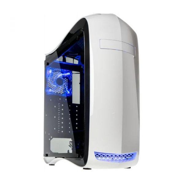 Kolink Punisher ATX White LED Blue Window - PUNISHER-W