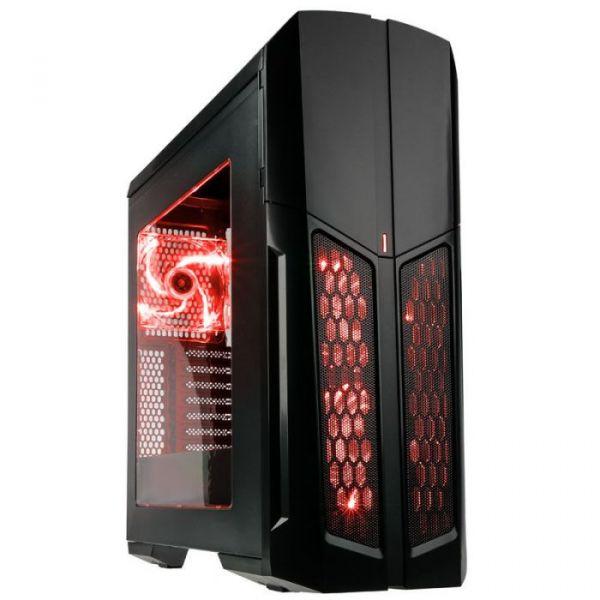 Kolink Caixa ATX Vault LED Red Window Black - VAULT-R