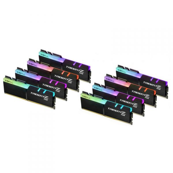 Memória RAM G.Skill 64GB Trident Z RGB 8x8GB DDR4 3200MHz PC4-25600 CL14 - F4-3200C14Q2-64GTZR