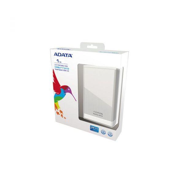 Disco Externo ADATA 1TB Nobility NH13 2.5 USB3.0 Gloss Silver - ANH13-1TU3-CSV
