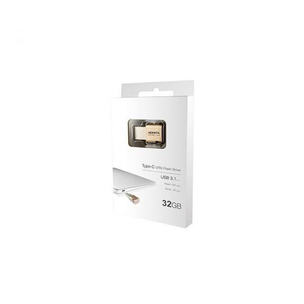 ADATA 32GB UC350 USB 3.0 (3.1 Gen 1) Type-A/Type-C Gold