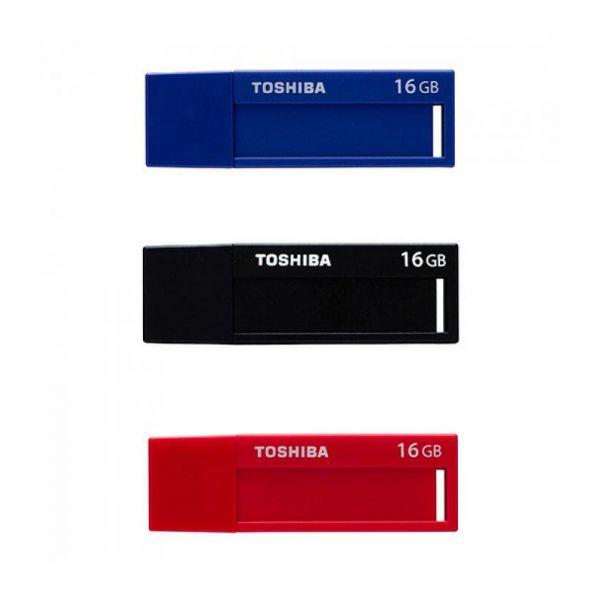 Toshiba 16GB TransMemory U302 USB 3.0 Blue / Black / Red - THN-U302A0160M4