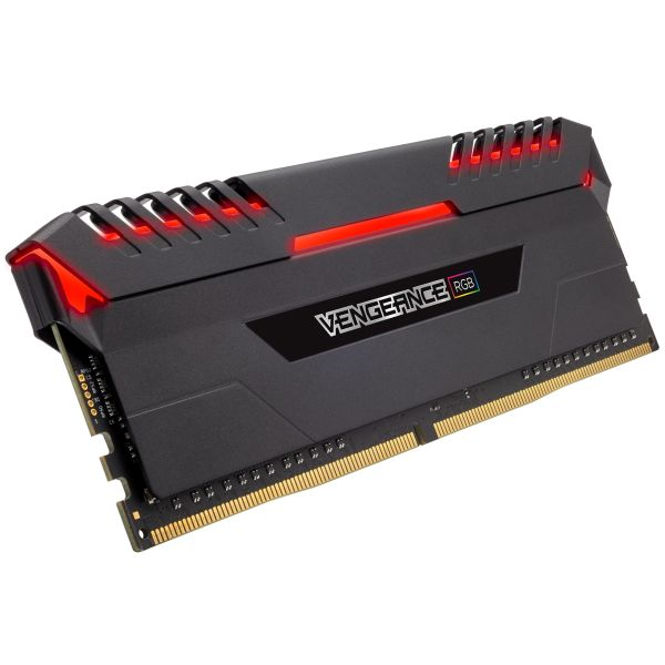 Memória RAM Corsair 32GB Vengeance RGB DDR4 3600MHz PC4-28800 (4x 8GB) CL18 - CMR32GX4M4C3600C18