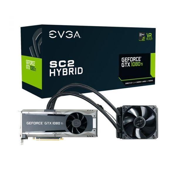EVGA GeForce GTX1080 TI SC2 Hybrid Gaming 11GB GDDR5X - 11G-P4-6598-KR
