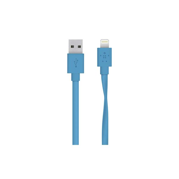 Belkin Flat Lightning to USB Cable 1,2 m blue - F8J148BT04-BLU