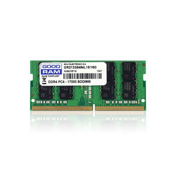 Memória RAM Goodram 16GB DDR4 2133MHz PC4-17000 CL15 - GR2133S464L15/16G