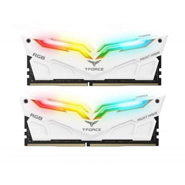 Memória RAM Team 16GB T-Force Night Hawk RGB (2x 8GB) DDR4 3000MHz PC4-24000 - TF2D416G3000HC16CDC01