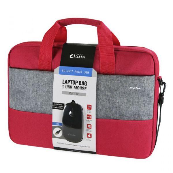 E-Vitta Mala 16'' Select Red + USB Mouse - EVLB000351