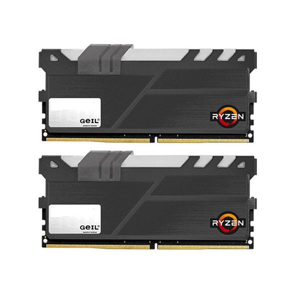 Memória RAM Geil 8GB AMD Edition EVO X (2x 4GB) DDR4 2400MHz PC4-19200 CL16 - GAEXY48GB2400C16DC
