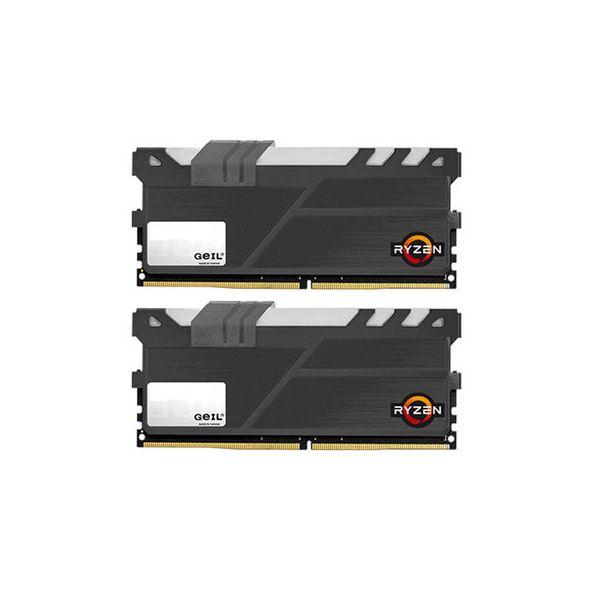Memória RAM Geil 16GB AMD Edition EVO X (2x 8GB) DDR4 2400MHz PC4-19200 CL16 - GAEXY416GB2400C16DC